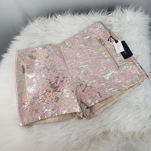 Forever 21 Pink Gold Woven Shorts